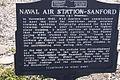 NAS Sanford Marker Front Sanford Airport 09Feb2011 (14630621505).jpg