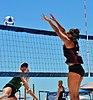 NCAA beach volleyball at Fiesta on Siesta, April 2016 (26292123541).jpg