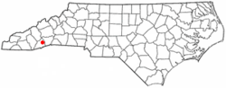 Location of Brevard, North Carolina
