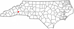 Location of Lake Lure, North Carolina.