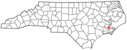 Location of Oriental, North Carolina
