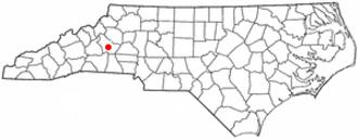 Salem, North Carolina - Image: NC Map doton Salem