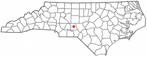 Troy, North Carolina - Image: NC Map doton Troy