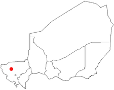 Location of Tillabéri in Niger