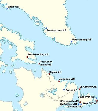 Northeast Air Command - Northeast Air Command area showing major Air Bases