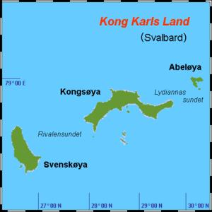 Kong Karls Land - Map of Kong Karls Land