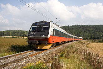 Norwegian State Railways - NSB Class 70 long-distance train