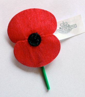 Royal New Zealand Returned and Services' Association - The Flanders poppy distributed by the RSA throughout New Zealand to raise money for the health and well being of all service personnel and their families.