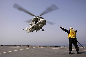 No. 6 Squadron RNZAF - A No. 6 Squadron SH-2G taking off from HMNZS Te Mana during a deployment to the Persian Gulf in 2008