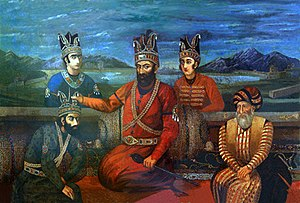 Nader Shah's Sword - Picture of Nader shah and two of his sons