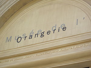 Musée de l'Orangerie - The name of the museum inscribed above the door