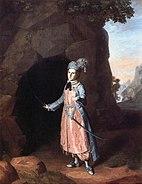 Nancy Hallam as Fidele in Shakespeare's Cymbeline Charles Willson Peale 1771