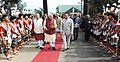 Narendra Modi arrives for the inauguration of the Hornbill Festival, at Kohima, in Nagaland. The Governor of Nagaland, Shri P.B. Acharya and the Chief Minister of Nagaland, Shri T.R. Zeliang are also seen.jpg