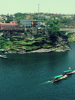 Ujjain City on the banks of Kshipra River