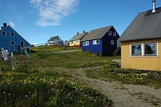 Narsaq - Colorful houses of Narsaq