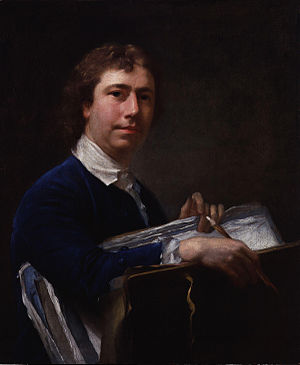 Nathaniel Hone the Elder - Self-portrait by Nathaniel Hone, circa 1760