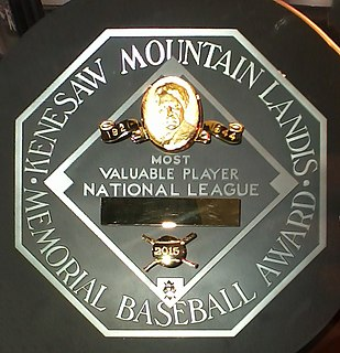 Major League Baseball Most Valuable Player Award baseball award given to the most important player in each of the Major Leagues