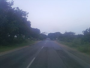 Uppal Kalan - National Highway 202 (India) on the outskirts of Uppal Kaan