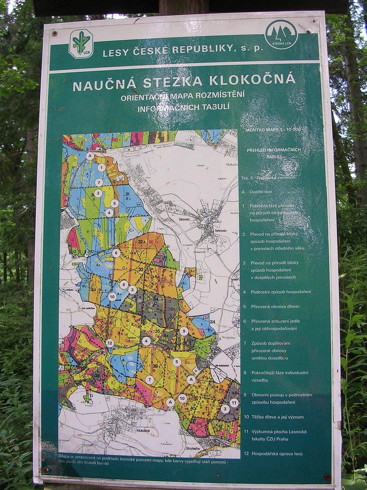 File Naucna Stezka Klokocna Orientacni Mapa Jpg Wikimedia Commons