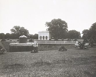 Shahbag - Water tower in Shahbagh gardens, 1904