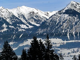 Oberstdorf - The Nebelhorn, Oberstdorf's local mountain