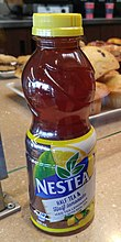 A bottle of tea lemonade Nestea