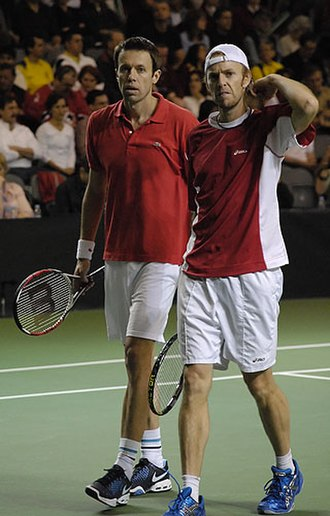 Daniel Nestor - Partnering Fred Niemeyer (right), his Davis Cup and Olympics partner from 2002 through 2009