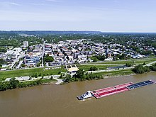 New Albany as seen from the Ohio River.