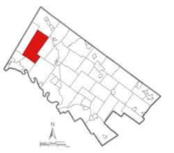 Location of New Hanover Township in Montgomery County