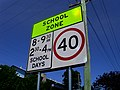 New fluorescent school zone sign.JPG