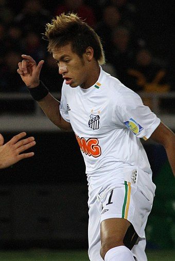 Neymar at the 2011 FIFA Club World Cup. The youngest FIFA Puskas Award winner. Neymar Junior the Future of Brazil 2 (cropped).jpg