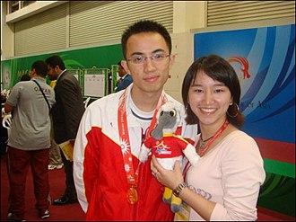 Ni Hua - Ni Hua (left) at the Macau 2nd Asian Indoor Games