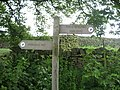 Nidderdale Way Sign, Middlesmoor - geograph.org.uk - 459670.jpg