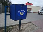 Niebieska skrzynka rozdzielcza dostępna dla listonoszy Poczty Polskiej, Tomaszów Mazowiecki, ulica Graniczna.jpg