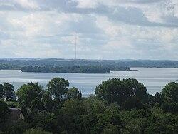 Niegocin Lake from Water Tower in Giżycko.jpg