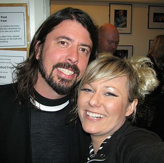 Nika Boon - Image: Nika Boon with Dave Grohl