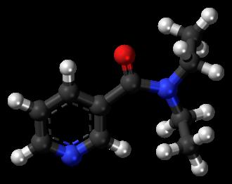 Nikethamide - Image: Nikethamide molecule ball