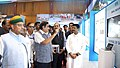 Nitin Gadkari, the Union Minister for Petroleum & Natural Gas and Skill Development & Entrepreneurship, Shri Dharmendra Pradhan and the Minister of State for Parliamentary Affairs, Water Resources.JPG