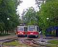Nizhny Novgorod. KTM-5 Trams in Kanavino.jpg