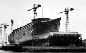 SS Normandie - Normandie under construction, 1932