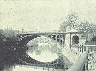 North Parade, Bath - Image: North Parade Bridge, pre 1936