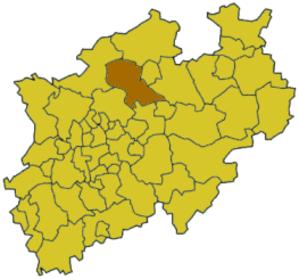 Coesfeld (district) - Image: North rhine w coe