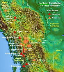 map of the northern cordilleran volcanic province