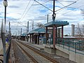 Northwest at passenger platform at Midvale Center station, Jan 15.jpg