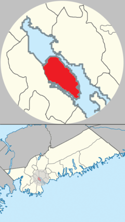 Location of Halifax Peninsula in municipal Halifax.
