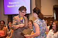Pinning ceremony at Nazareth College in New York