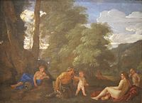 Nymphs and a Satyr (Amor Vincit Omnia) - Nicolas Poussin - Cleveland MofA.jpg