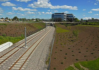 Confederation Line - Completed Confederation Line tracks in August 2017