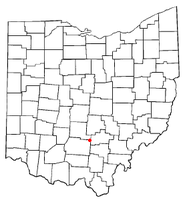 Location of Adelphi, Ohio