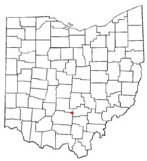Adelphi, Ohio - Image: OH Map doton Adelphi